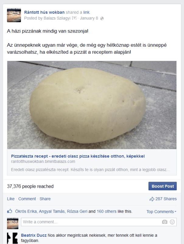 Házi pizza Facebook kép
