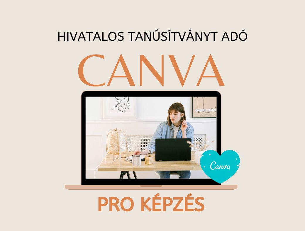 Hivatalos tanúsítványt adó Canva Pro képzés